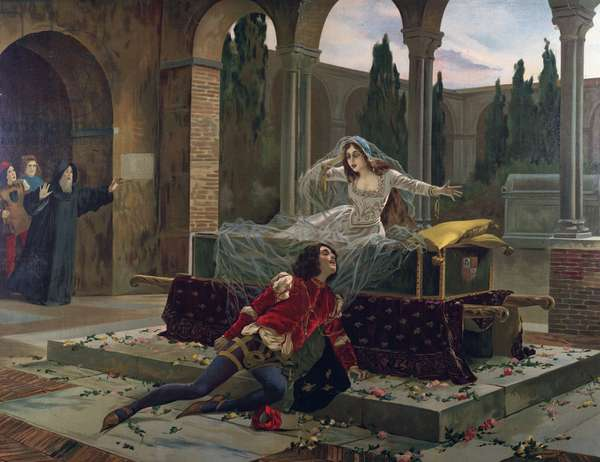 """Romeo et Juliet"" Scene from ""Romeo and Juliette"" opera by Charles Gounod (1818-1893). c.1880."