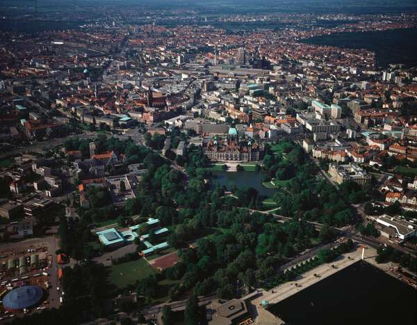 Aerial view of the city, 1990 - Photography