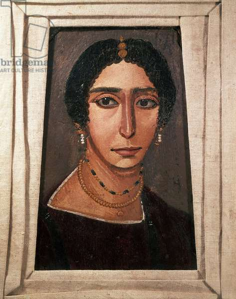Funeral portrait of a woman. From Fayum, 2nd or 3rd century (Painting on wood)