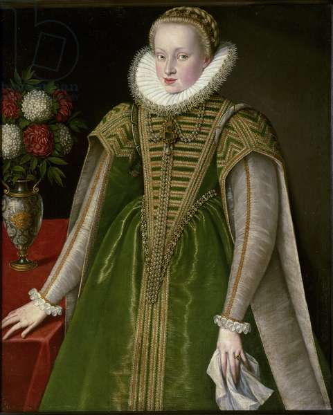 Portrait of Mary Christine of Austria, wife of Sigismond I Bathory, 1595 (painting)