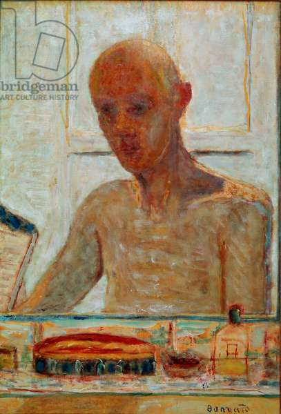 Self Portrait Painting by Pierre Bonnard (1867-1947) 20th century Collection Madame Frank F. Gould