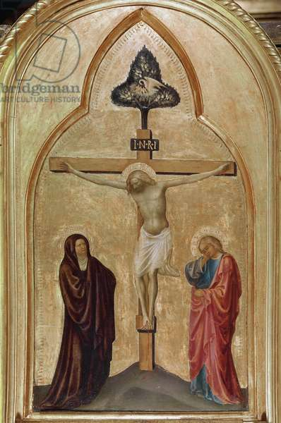 Crucifixion (tempera and gold leaves on panel, 1428-1431)