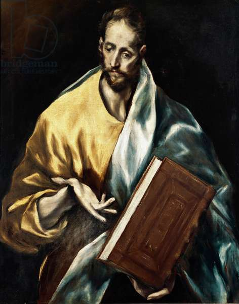 The Apotre Saint James the Minor. Painting by Domenikos Theotokopoulos dit El Greco (1540-1614), 1610-1614. Oil on canvas. Dim: 97x77cm. House and Musee El Greco, Toledo, Spain.