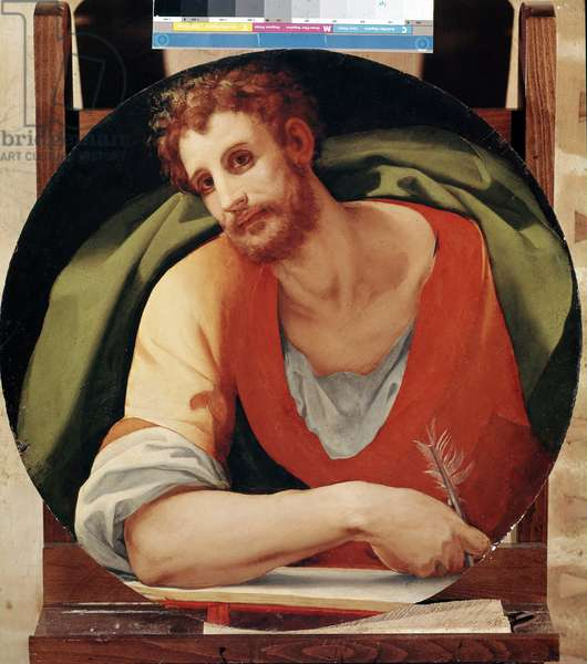 Portrait of St Mark - oil on panel, 1526