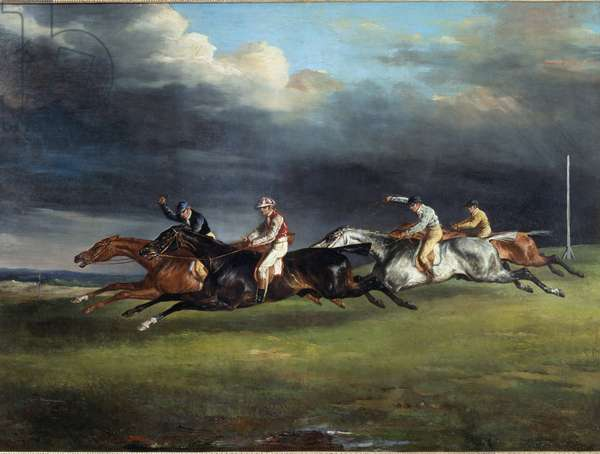 Horse Race, called the derby at Epsom - oil on canvas, 1821