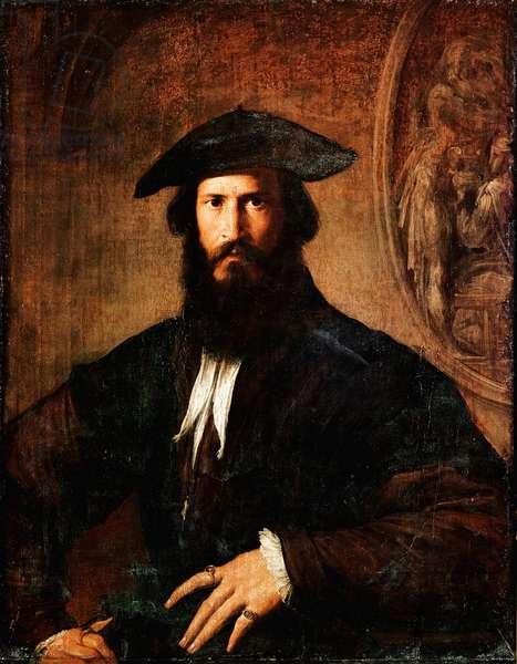 Portrait of Man Man Painting by Francesco Mazzola Il Parmigianino dit The Parmesan (1503-1540) 1530-1531 Sun. 100x70 cm Florence, galleria degli Uffizi (Uffizi)