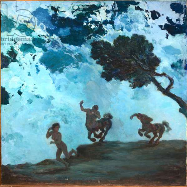 The chase, c.1912 (oil on canvas)