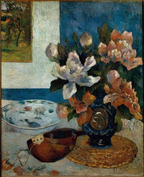 Still Life a la Mandolin (Stilll-life with mandolin) Painting by Paul Gauguin (1848-1903) 1885 Dim 61x51 cm Paris musee d'Orsay