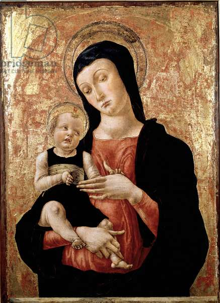 Virgin with child Painting by Bartolomeo Vivarini (ca. 1432-after 1491) 15th century Venice museum Correr
