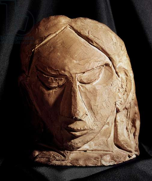 Terracotta woman mask by Pablo Picasso (1881-1973) 1908 Paris, National Museum of Modern Art
