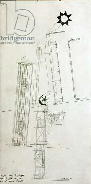Hypertrophic Trophee Drawing by Max Ernst (1891-1976) 1919 Private Collection