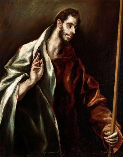 Apotre Saint Thomas. Painting by Domenikos Theotokopoulos dit El Greco (1540-1614), 1610-1614. Oil on canvas. Dim: 97x77cm. House and Musee El Greco, Toledo, Spain.