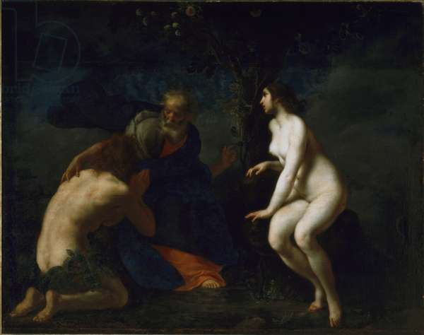 Adam and Eve Painting by Francesco Furini (1604-1646), 17th century. Florence, Galleria Palatina, Italy