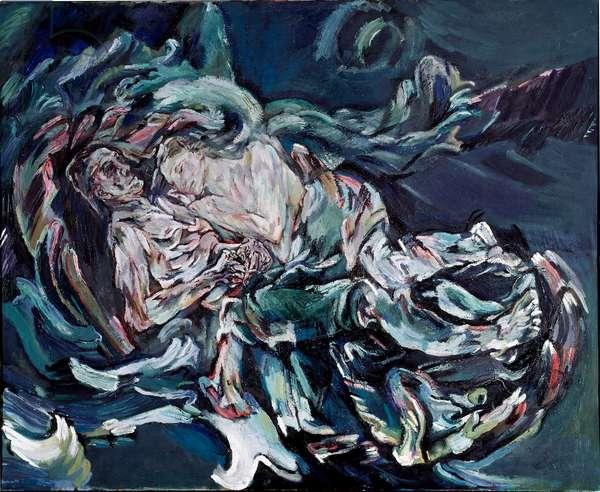 The Wife of the Wind Painting by Oskar Kokoschka (1886-1980) 1914 Dim. 181x220 cm Bale, Kunstmuseum