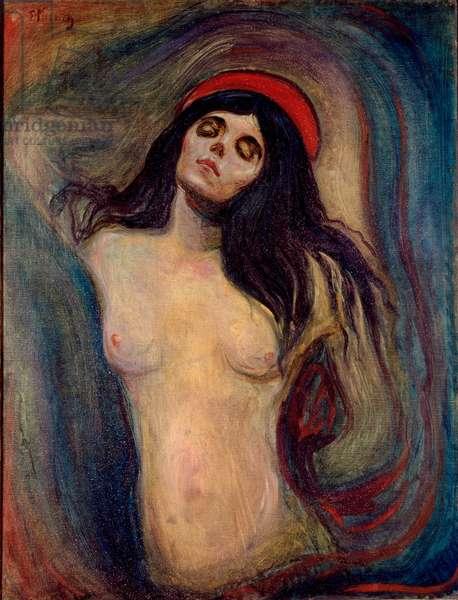 Madonna Painting by Edvard Munch (1863-1944) 1893-1894 Sun. 90x68,5 cm Oslo, Kommunes Kunstsamlinger Munch-Museet (Musee Munch)