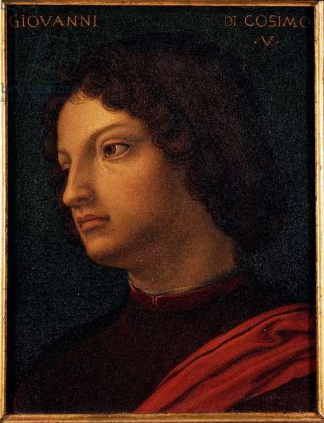 Portrait of Jean de Medici (Giovanni di Cosimo de Medici) (1421-1463) Banker and Mecene Painting by Allori Angelo di Cosimo dit Bronzino (1503-1572) 16th century Dim 15x12 cm Palace Medici-Riccardi (Medici Riccardi) Florence