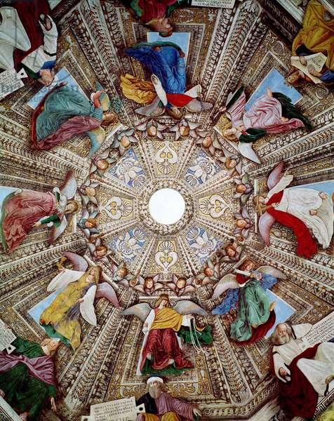 Representations of Prophetes and Angels Fresco by Melozzo da Forli (Melozzo degli Ambrosi) (1438-1494) Cupola of the Sacristy of Saint Mark (Marco), Sanctuary of Santa Casa, Loreto