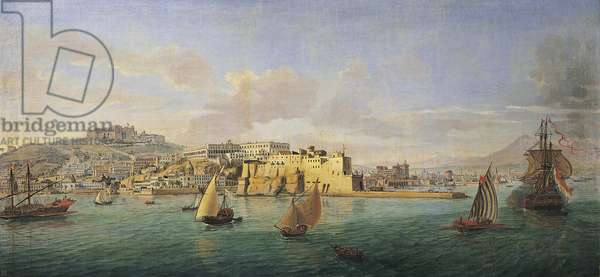 View of the Gulf of Naples Painting by Gaspare Vanvitelli (Gaspar van Wittel, Caspar Van Vitelli) (1653-1736) Florence, Galleria Palatina