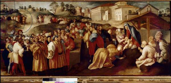 Adoration of the Magi (oil on wood, 1519-1520)