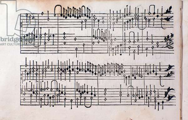 Page of Tablature, book 1 by Girolamo Cavazzoni, 1544
