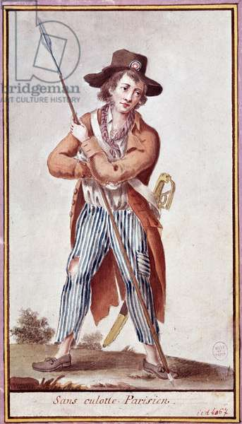 Portrait of a parisian sans-culotte during the French revolution Anonymous print around 1789 Paris, Musee Carnavalet