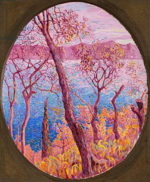 Trees on the sea, c.1910-14 (oil on canvas)