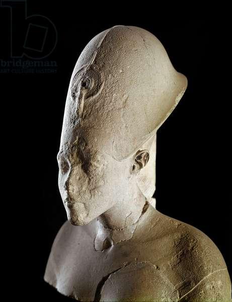 Bust of Pharaoh Akhenaton (Amenophis IV). 18th dynasty (1550-1295 BC). From Tell el Amarna. Paris, Louvre Museum