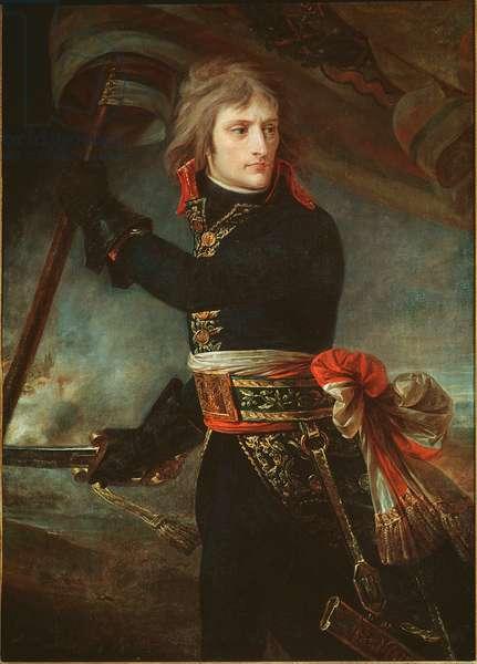 Napoleon Bonaparte at the bridge of Arcole (November 17, 1796) - Painting by Antoine Jean (Antoine-Jean) Gros (1771-1835), 1798 - Versailles musee du chateau