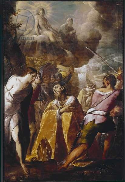 The Martyrdom of St Dionysius (Dennis or denys) Painting of Cerano (Giovan Battista Crespi) (1567/8-1632) 1610-1616 Dim 320x215 cm Vigevano, Chiesa di San Dionigi, Italy