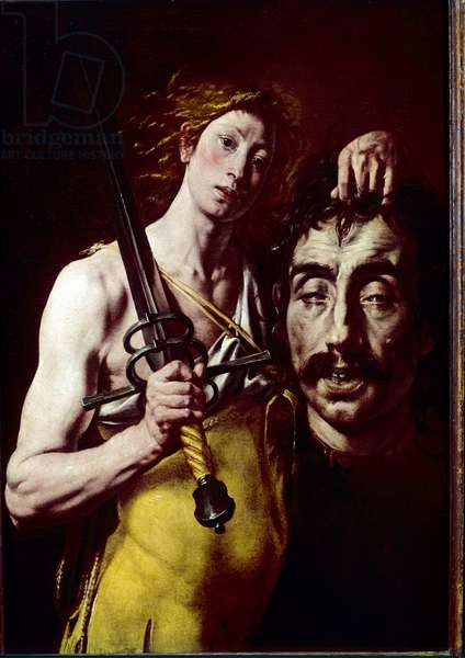 David with the head of Goliath, 1617-24 (oil on canvas)