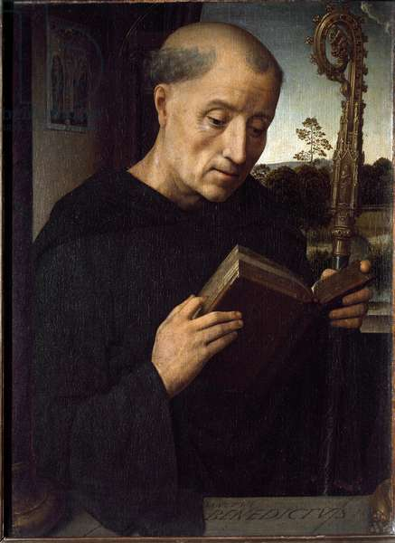 Representation of Saint Benedict of Nursie (Benedetto di Norcia) (480-547) Founder of the Benedictine Order