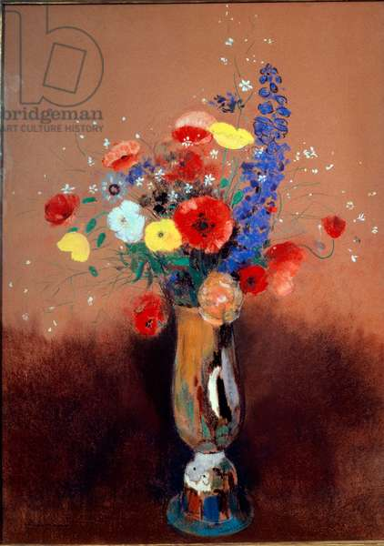 Wild flowers in a Long-necked Vase, ca 1912 (pastel on paper)