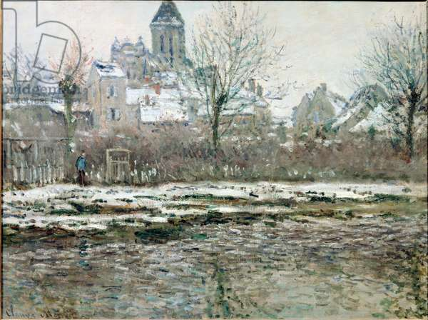 The Church at Vetheuil under Snow, 1878/79 (Oil on canvas)