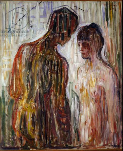 Love and Psyche Painting by Edvard Munch (1863-1944), 1907 Sun. 119,5x99 cm Oslo, Kommunes Kunstsamlinger Munch-Museet (Musee Munch)