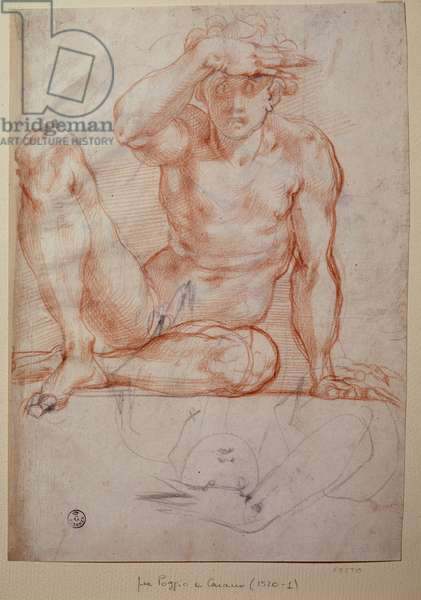 Naked man - Drawing, 16th century