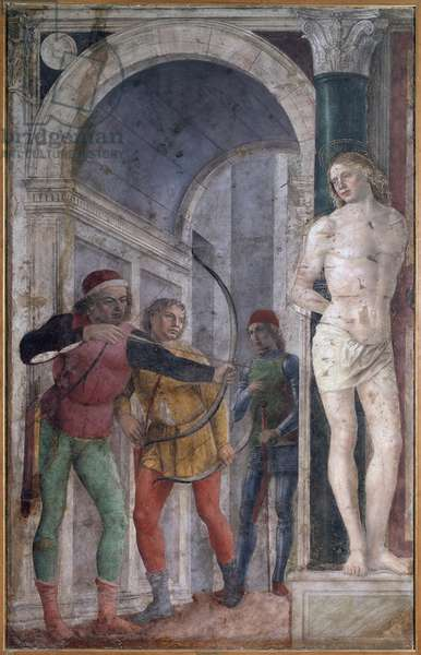 Martyrdom of St Sebastian (detached fresco, 1485)