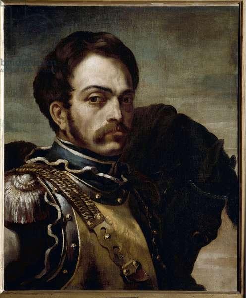 Portrait of a carabinieri officer. Oil on canvas, 19th century.