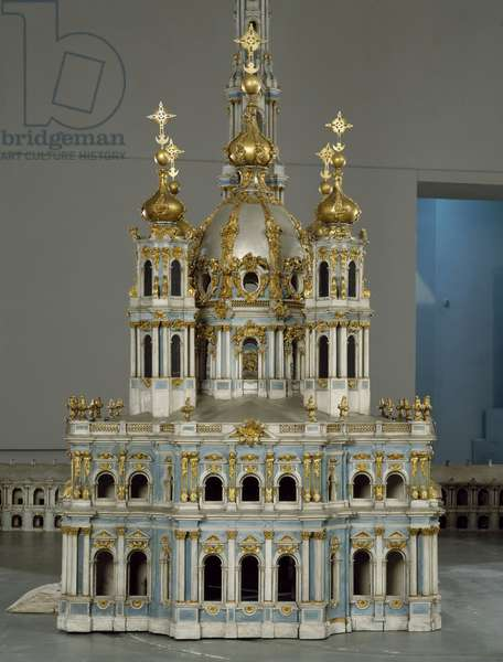 Project for the Monastery of the Virgin of the Resurrection (Smolny) in Saint Petersburg, 1750-1756 (Wooden model painted, gilding and lead)