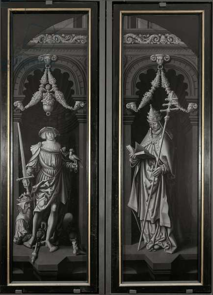 Triptych of Saint Pancrazio (Saint Pancrace of Rome or St Pancras): firm panels - Painting by Adriaen Ysenbrant (Adrian or Adrien Isenbrant or Ysenbrandt) (between 1480/1490-1551), 16th century Dim 185 cm Genes, Church of San Pancrazio Italy