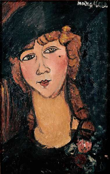 Portrait of Lolotte Painting by Amedeo Modigliani (1884-1920) 1917 Sun. 0,35x0,55 m Paris, musee national d'art moderne