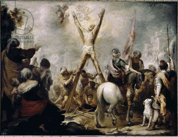 The Martyr Of St Andre. Painting by Bartolome Esteban Murillo (1618-1682), oil on canvas, 123x162 cm. Madrid, Museo del Prado