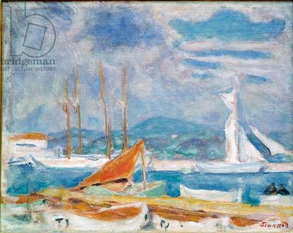 The Port of Saint Tropez Painting by Pierre Bonnard (1867-1947) 1914 Saint-Tropez, Musee de l'Annonciade