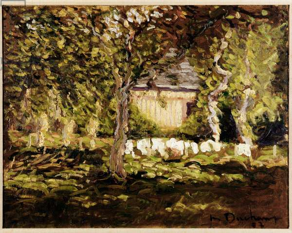 The House in the Apple Trees Oil On Canvas by Marcel Duchamp (1887-1968) 1907 Private Collection