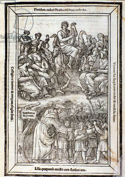 Apollo and the Muses. Page from  Recanetum de musica aurea, 1533