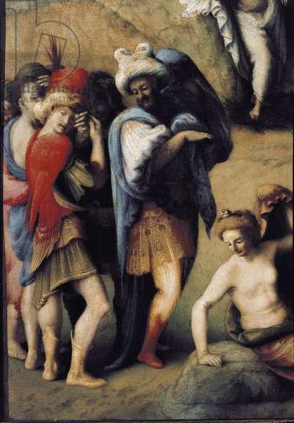 Andromede delivree by Persee. Painting by Piero di Lorenzo detto Piero di Cosimo (1461-1521), 1510. Oil on canvas. Dim: 70 x 123 cm. Detail