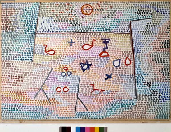 Spielzeug (The Toy) Watercolour by Paul Klee (1879-1940) 1913 Dim 44x64 cm Private collection