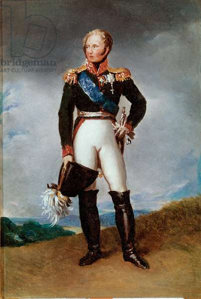 Portrait  of Alexander I, Tsar of Russia, 18th-19th century (painting)