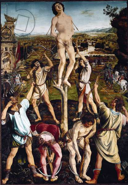 Martyrdom of St Sebastian (oil on canvas, after 1475)