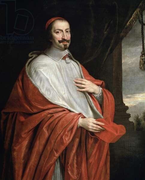 Portrait of the Cardinal Jules Mazarin (oil on canvas, 17th century)