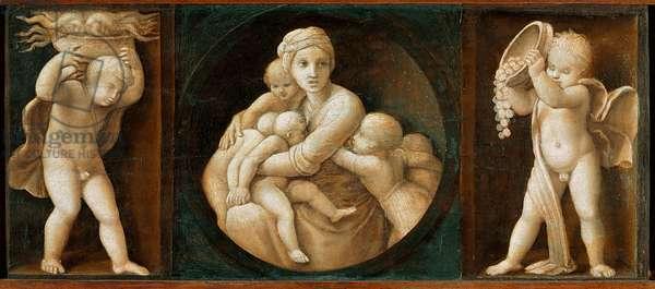 Charity, predella from the Baglioni Altarpiece, 1507 (oil on panel)